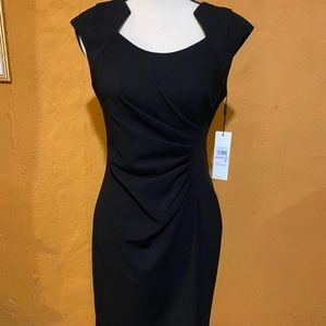 Calvin Klein women black dress size 6 Nwt